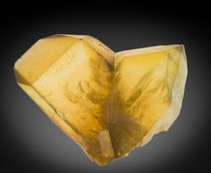 A 16 cm Japan Law twin of citrine from Mansa, Luapula, Zambia, one of the best examples known.
