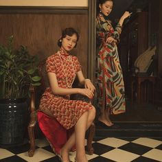 #vintagestyle #1930s #cheongsam #makeupdesign #advertisement makeup&styling:me! phtographer:@choophy model:孔敬&孙依凡