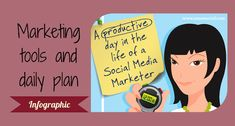 View an amazing list of marketing tools that social media marketers use. Look at a day in the life of the social media marketer. Check it out.