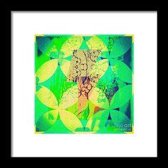 Design Framed Print featuring the digital art Yonder by Caroline Gilmore