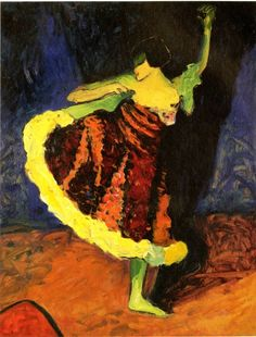 """Zeitgenossin von Werefkin: Erma Bossis """"Tänzerin in Rot"""", um 1909"""