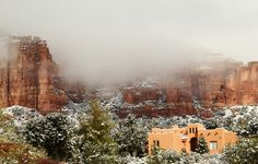 Snowing in northern New Mexico, January 2013