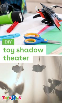 Explore the creativity of putting on a show with a DIY shadow puppet theater! Choose the props, write the story, set the stage, then act it out! #diyforkids #theaterkids #diytheater #diypuppets #shadowpuppets