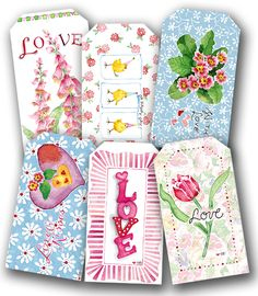 Valentine Gift Tags - Susan Branch