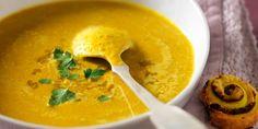 soupe lentilles corail courge lait coco