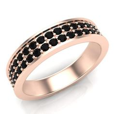 This Wedding Band is 5mm wide and set beautifully in 14k White,Yellow or rose gold with sparkling black diamonds. https://www.glitzdesign.us/collections/diamond-band-style-rings/products/glitz-design-round-natural-diamond-band-ring-yellow-white-gold-g-h-si1-si2