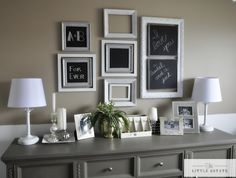 Master Bedroom Chalkboard Gallery Wall