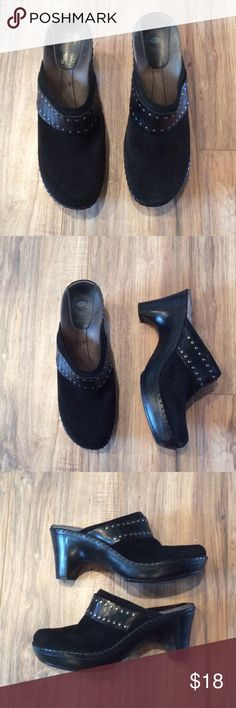 "Black studded  9 nuture  mule slide Super cute and comfy with 3.5"" heel and 1"" platform! nuture Shoes Mules & Clogs"