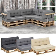 1 x seat cushion, 1 x back rest cushion for a euro-pallet sofa. Indoor / outdoor suitable, insensitivity to light, abrasion and sweat. Pallet Furniture Pillows, Palette Furniture, Resin Patio Furniture, Pallet Garden Furniture, Pallet Couch, Diy Outdoor Furniture, Outdoor Sofa, Indoor Outdoor, Wooden Pallet Projects