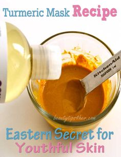 Turmeric Face Mask - Rediscover Eastern Secret to Youthful Skin - Natural Beauty Skin Care Make Beauty, Health And Beauty Tips, Beauty Care, Beauty Skin, Beauty Hacks, Beauty Secrets, Ageless Beauty, Remedies For Glowing Skin, Turmeric Face Mask