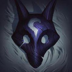 Kindred, the Eternal Hunters, League of Legends Lol League Of Legends, League Of Legends Characters, Lambs And Wolves, Legend Symbol, League Of Legends Personajes, Legend Drawing, Wolf Mask, League Memes, Masks Art