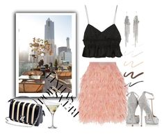 """""""View From Above"""" by harperleo ❤ liked on Polyvore featuring DKNY, Tod's, Eva Solo, MM6 Maison Margiela, René Caovilla, Topshop, summerdate and rooftopbar"""