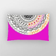 Colourful Geometric Mandala Pillow Cover | Artist : Amulya Jayapal | PosterGully