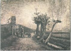 Vincent van Gogh Drawing, Pencil, pen Nuenen: March - middle of month, 1884 Rijksmuseum Amsterdam, The Netherlands, Europe