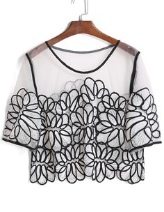 Shop Mesh Embroidered Crop Top online. SheIn offers Mesh Embroidered Crop Top & more to fit your fashionable needs.