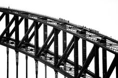 Sydney Harbour Bridge Climbers I thought I do something a little different I made this a high contract black and white to make use of the overcast day and a big black structure.  Guided tour bridge climb started in 1998 for people who want to experience something different.  : Canon 5D MKIII : Tamron 150-600mm : 1/1000 ISO200 ƒ/8 : NSW AU  #amazing_australia #australia #australiagram #bestofaustralia #canonaustralia #epic_captures #exploreaustralia #ig_australia #iloveaustralia #seeaustralia…