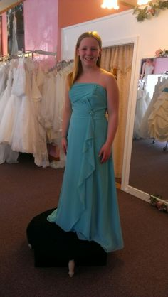 My baby girl modeling the dress for the wedding