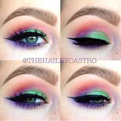 Colorful eyeshadow!