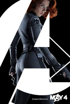 Scarlett Johanson as Black Widow and Agent Romanoff in The Avengers.