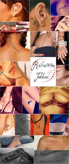 Chest tattoo s rihanna