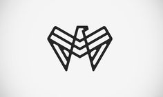 Eagle Logo: minimal geometric and almost symmetric! Love it ♥