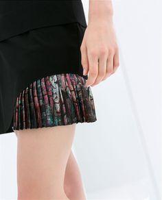 Imagem 5 de SAIA TUBO ESTAMPADA da Zara