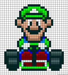 This would be an interesting afghan to make for Jack :P Mario Crafts, Nerd Crafts, Pearler Bead Patterns, Perler Patterns, Perler Bead Mario, Perler Beads, Beaded Cross Stitch, Cross Stitch Patterns, Super Mario