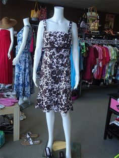 Great chocolate/white sundress by R & K Originals...I'm such a fan of brown!
