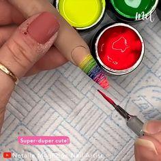 Nail Art Designs Videos, Nail Art Videos, Nail Designs, Nail Art Hacks, Easy Nail Art, Swag Nails, Fun Nails, Ratchet Nails, Gel Nail Set