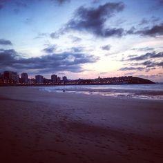 Atardecer en la Playa de San Lorenzo. #Gijón #Asturias