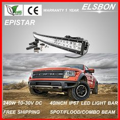 Find More Light Source Information about Newly 2015 external light 240w 40 inch led light bar waterproof IP67 curved led light bar epistar bulbs 12v external light L89a ,High Quality light replacement,China light book Suppliers, Cheap ip67 usb from Elsbon Electronic & Car Accessory on Aliexpress.com Curved Led Light Bar, Led Work Light, Led Light Bars, Work Lights, China Lights, External Lighting, Floating Candles, Bicycle Accessories, Bar Lighting