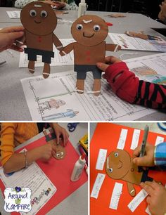 Reading and writing ideas for teaching with The Gingerbread Man Loose in the School as well as comparing many other versions of The Gingerbread Man.| Around the Kampfire