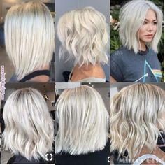 New Bob Haircuts 2019 & Bob Hairstyles 25 Bob Hair Trends for Women - Hairstyles Trends Hair Color 2017, Messy Short Hair, Blonde Short Hair, Cool Short Hairstyles, Choppy Bob Hairstyles, Layered Haircuts, Pinterest Hair, Silver Hair, Balayage Hair