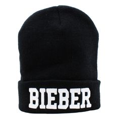 Bieber Beanie ($28) ❤ liked on Polyvore featuring accessories, hats, beanies, beanie cap hat, beanie cap, cotton beanie caps, cotton hat and beanie hat