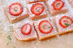 Strawberry Thyme Lemon Bars by Tartlet Sweets