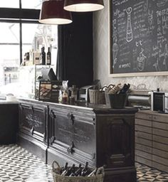 Wouldn't it be so awesome to create a kitchen that looked like a french brasserie