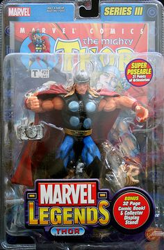 Net's photo database of Marvel Legends's Series 3 Thor action figure Avengers Superheroes, Comic Book Superheroes, Comic Books Art, Marvel Comics, Marvel Legends Series, Marvel Series, Marvel Games, The Mighty Thor, Batman Vs Superman