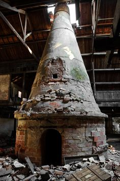 The Ceramics Factory of Devezas - Vila Nova de Gaia, Portugal. Furnace.