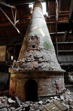 The Ceramics Factory of Devezas - Vila Nova de Gaia, Portugal. Furnace.