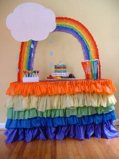 By Tonya Steward, Gumdrops & Truffles Parties, LLC Make This Rainbow Party Table For $50 or Less! The rainbow theme is VERY popular this year. You can make a beautiful party table for your child without spending a fortune! By using what you may already have and doing some bargain hunting, you can even make …