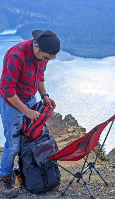 Here's what you should look for when you're buying a new camping chair. Backpacking Chair, Camping Chairs, Chair Tips, Sit Back, The Great Outdoors, The Good Place, That Look, Adventure, Travel
