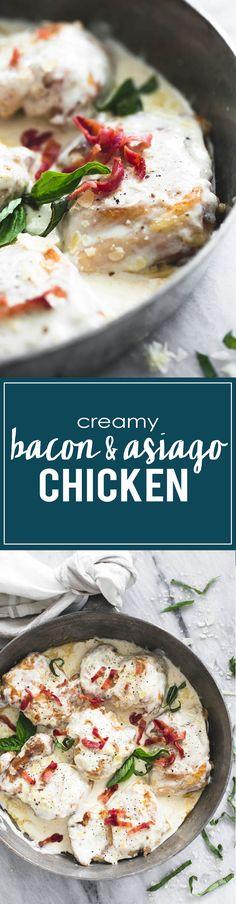 Creamy 20-minute Asiago Bacon Chicken   lecremedelacrumb.com