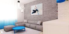 Pokój z aneksem kuchennym w gradiencie - zdjęcie od Ale design Grzegorz Grzywacz - Salon - Styl Skandynawski - Ale design Grzegorz Grzywacz