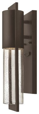 Dwell Slim Outdoor Wall Lantern - traditional - outdoor lighting - Carolina Rustica