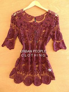 Delusive Modcloth Top Free Crochet Vintage Trendy Blouse Urban People Clothing