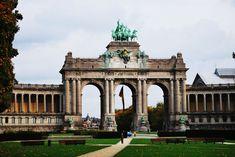 The Triumphal Arch in the Cinquantenaire Park in Brussels, Belgium