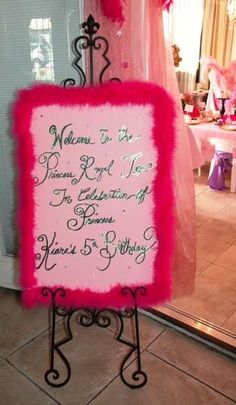 Welcome sign Princess Party made for Royalty | CatchMyParty.com