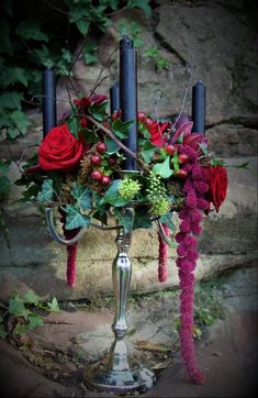 Unique flower arrangements for every occasion. We offer same day delivery in Market Drayton and Shropshire area. Unique Flower Arrangements, Unique Flowers, Table Arrangements, Gothic Wedding, Grapevine Wreath, Grape Vines, Christmas Wreaths, Wedding Flowers, Holiday Decor