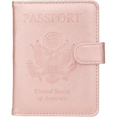 GDTK Leather Passport Holder Cover Case RFID Blocking Travel Wallet ($5.99) ❤ liked on Polyvore featuring bags, colorblock bags, leather bags, color block bag, genuine leather bag and block bag