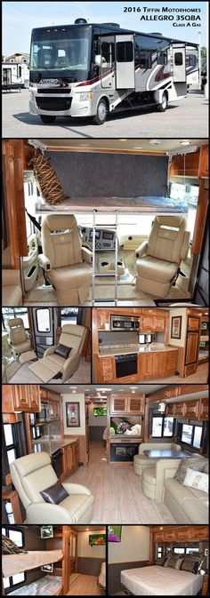 2016 Tiffin Motorhomes Allegro Class A Gas Start your journey with the one that started it all. Now in its year of production, the Allegro continues its legacy as a gateway to the open road Luxury Motorhomes, Rv Motorhomes, Class A Motorhomes, Tiffin Motorhomes, Travel Camper, Luxury Rv, Rv Trailers, Travel Trailers, Arquitetura
